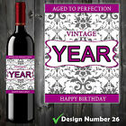 PERSONALISED WINE BOTTLE LABEL BIRTHDAY ANY OCCASION GIFT PRESENT XMAS