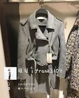 Spain Women's Soft Faux Suede Lapel Belted Gray Bomber Jacket Moto Biker XS-L