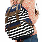 Unisex Fashionable Canvas Backpack School Bag Stripe College Laptop for Students