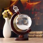 Weather Forecast Crystal Bottle Globe Water Shape Storm Glass Home Decor Gift UK