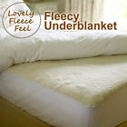 Warm Fleecy Under blanket Mattress Protector Fitted bed Cover Elasticated