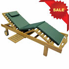 KYOTO LUXURY INDONESIAN SOLID TEAK WOOD SUN LOUNGER BED CHAIR LEGLIFT DRINK TRAY