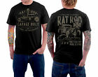 Vintage Rockabilly Old School T-Shirt - Rat Rod Garage Built Gasoline
