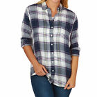 Joules Womens Laurel Check Shirt in Navy or Grey