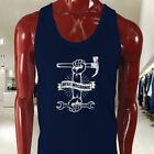 BEST MECHANIC TOOLS HAMMER WRENCH AUTO CARS Mens Navy Tank Top