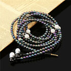 Universal Pearl Necklace 3.5mm Stereo Earphone Earbud For Samsung iPhone HTC PC