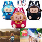 US Toddler Kids Boy Girl Cartoon Monkey Backpack Anti Lost Shoulder Bag Rucksack