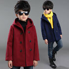Children Kids Boys Duffle Coats Hooded Warm Jackets Winter Outerwear Windbreaker