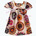 new kids baby Girls Girls Vintage Floral Chiffon Lace Frilled Ruffle party dress