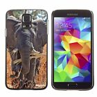Hard Phone Case Cover Skin For Samsung Elephant eats the dry grass