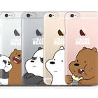 We Bare Bears Clear Jelly Case iPhone 7 Case iPhone 7 Plus Case 9 Types Korea