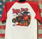 Vintage '68 Rats Hole Original Born Bad transfer on baseball 3/4 sleeve RARE Tee