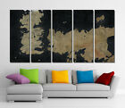 Framed Wall Canvas Art - Game Of Thrones Map Gaming Art Canvas Prints