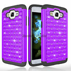 Luxury Hybrid Rugged Bling Bumper Phone Case Cover For Samsung Galaxy J2 Prime
