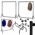 4 5 6 FT Heavy Duty Metal Garment Display Rail Clothes Shop Hanging Stand Rack