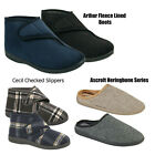 MENS SLIPPERS BEDROOM MULES SMART  HOUSE GUSSETS SLIP ON SHOES IN SIZES 6-12