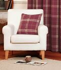 "Rapport Highland Plaid Tartan Wool Feel Cushion Cover 4 Colours 18""x 18"""