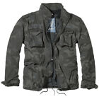 BRANDIT M65 GIANT FIELD JACKET MENS ARMY COAT VINTAGE WARM LINER PARKA DARK CAMO