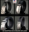 "up to 43"" Leather Dress Belt, Click Comfort. Automatic Lock"