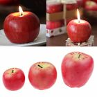 Christmas Red Apple Shape Fruit Scented Candles Home Decoration Funny Gifts