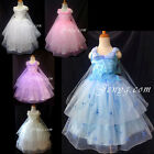 PB9 Flower Girl Wedding Junior Bridesmaid Formal Graduation Prom Gowns Dresses