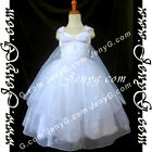 PBR9 Flower Girl Wedding Junior Bridesmaid Formal Party Rhinestones Gown Dress