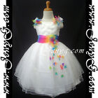 RBW9 Flower Girl Wedding Junior Bridesmaid Formal Birthday Prom Summer Dress