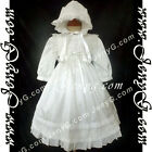 5805 Baby Christening Baptism Church Communion Traditional Gowns Dresses Bonnet