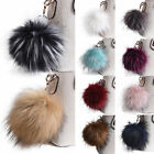 Large Faux Fur Key Chain 5' Pom Pom Ball Fashion Purse Punk Phone Pendant Charm
