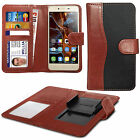 For HTC One X9 - Clip On Fabric / PU Leather Wallet Case Cover