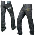 MEN'S BLACK SKINNY JEANS DENIM STAR FASHION REGULAR SLIM FIT TROUSER STY 3