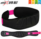 Wyox Women Weight Lifting Belt Neoprene Gym Wide Back Support Workout Fitness