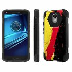 Moto [Droid Turbo 2/ Turbo2] Armor Case KickStand  [Screen Protector] Design [G]