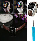 Luxury Leather Buckle Wrist Watch Band+Screwdriver+Adapter for Apple Watch 42mm