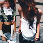 Summer Womens Sexy Lace Loose Casual Tank Tops Blouse Sleeveless Vest T-Shirt