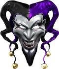 Evil Clown Jester sticker graphic decal motorcycle window golf cart go kart hood