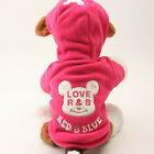 Pet Dog Hoodie Coat Puppy Cat Warm Clothes Sweater Winter Jacket Costume Apparel