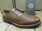 H by Hudson Patton Tan Leather Lace-up Brogue Shoe