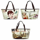 Ladies Ella Zip Large multi coloured Bags 72746 with Inner Pockets Two Straps