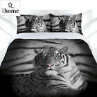 Blue Eyes Stripes Tiger Quilt Doona Duvet Cover Set - SINGLE DOUBLE QUEEN KING
