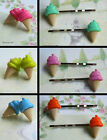 ICE CREAM HAIR CLIPS OR EARRINGS STUDS PIERCED KITSCH KAWAII