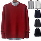 Mens New Fashion Square Round Crewneck Knit Sweater Long Sleeve Top E044 XS~XL