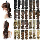 33 colors 21.6'' drawstring blonde wave Clip in Hair Ponytails Hair Extension