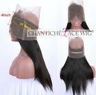 360 Full Lace Band Frontal Straight 7A Brazilian Remy Virgin Human Hair Closures