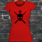 8 BALL SKULL BILLIARDS POOL GAME SPORT CUE STICKS Womens Red T-Shirt $14.99 USD on eBay