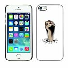 Hard Phone Case Cover Skin For Apple iPhone Fist Coming Out of Cracked Ground