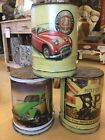 VW Beetle Austin Healey Coca Cola Metal Oil Drum Stools Quirky Seat Chair Stool