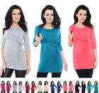 Purpless Maternity 2in1 Pregnancy Nursing Breastfeeding Wrap Top Tee 7735