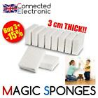 VERY STRONG THICK LARGE 9x6x3cm MAGIC SPONGE ERASER BLOCK DIRT STAIN REMOVAL UK
