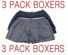 MEN BOXER PLAID SHORT UNDERWEAR 3 PACK SIZE 4XL & 5XL LOW COTTON